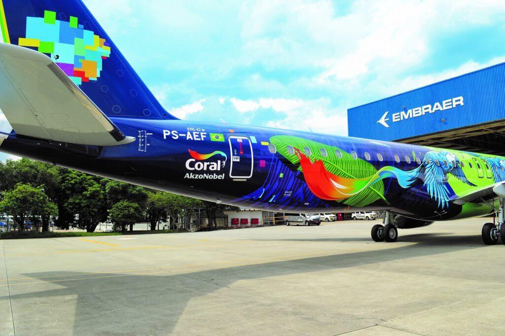 EmbraAer Azul